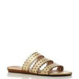 kate spade 'Brittany' Gold Leather Sandal
